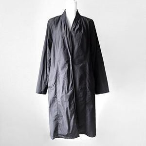 EILEEN FISHER ORGANIC minimalist kimono jacket l